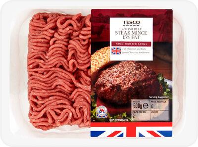 British beef steak mince 15% fat - Produit - en