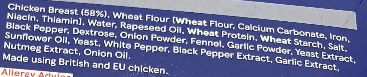 tesco southern fried chicken steaks - Ingredients - en