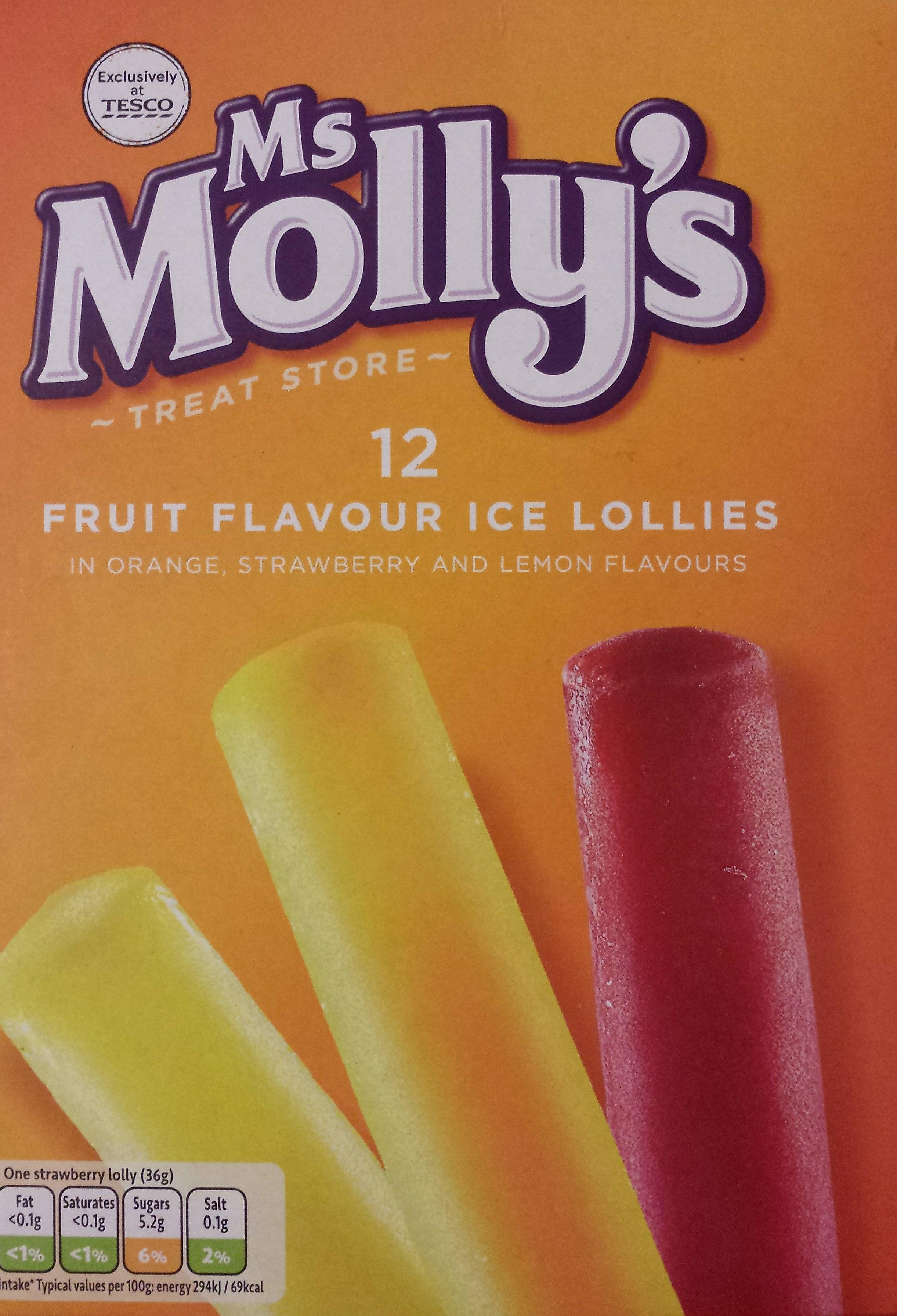 Fruit Flavoured Ice Lollies - Produit