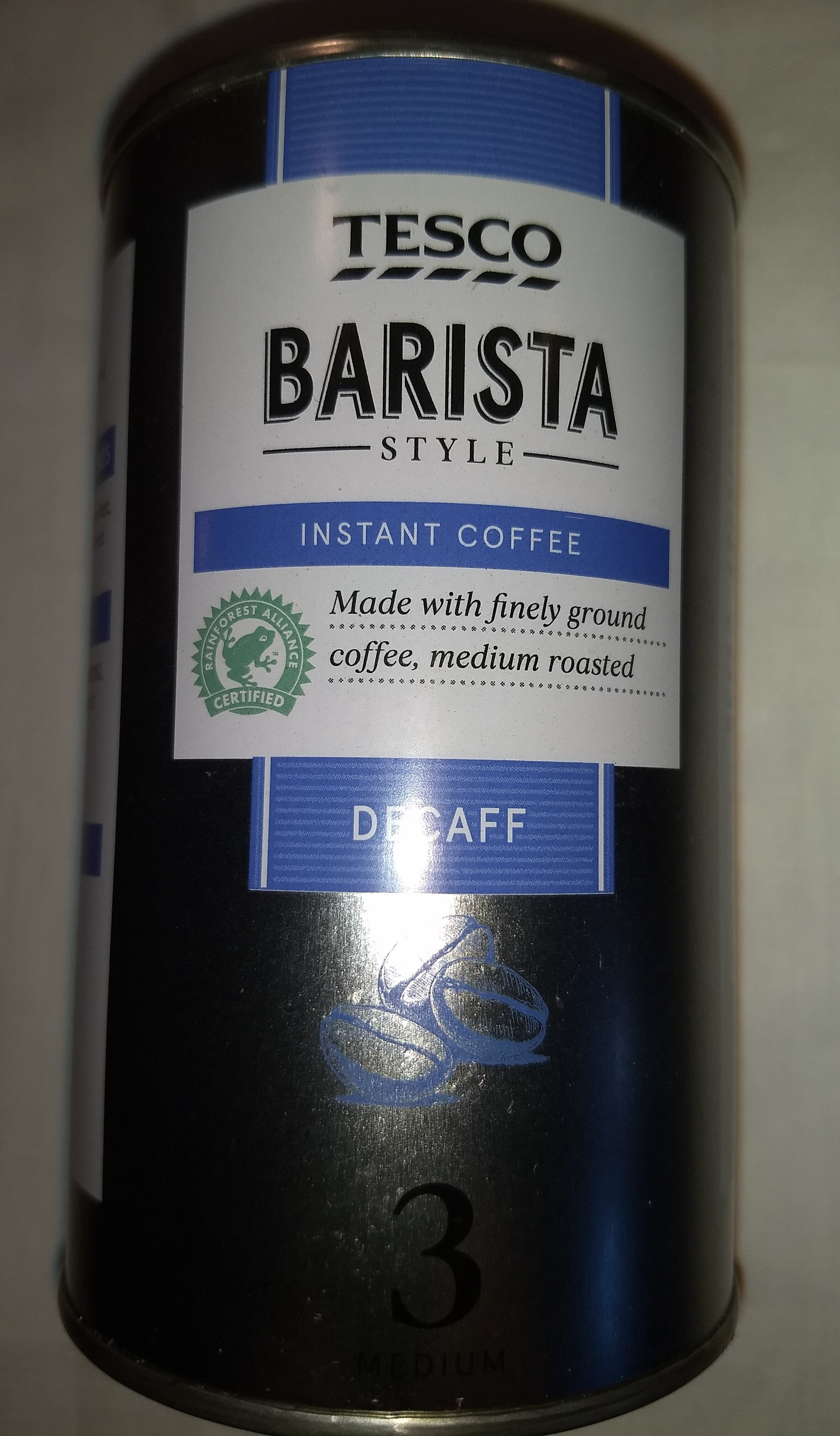 Barista Style Instant Coffee Tesco 100g