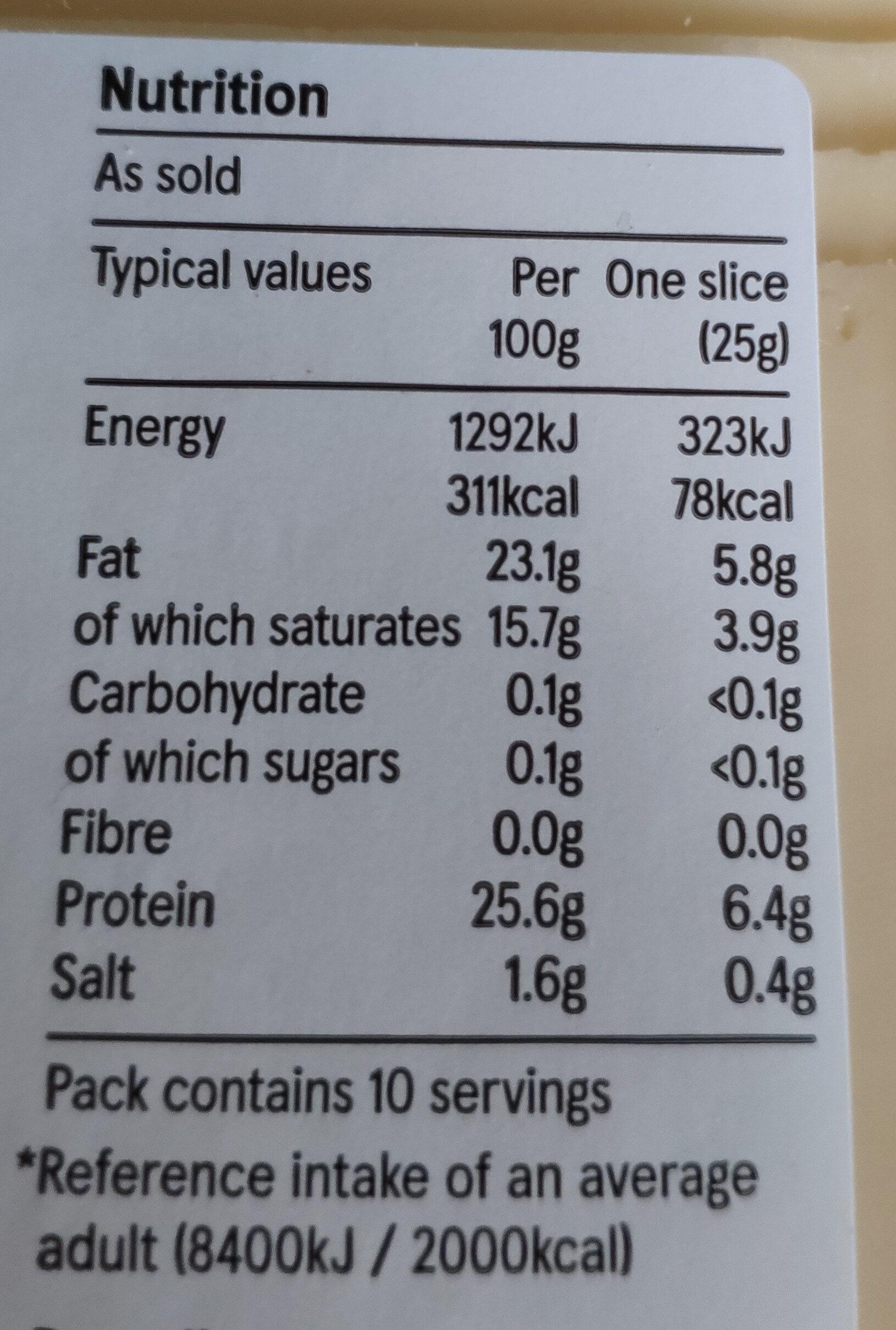 Edam Slices - Nutrition facts - en
