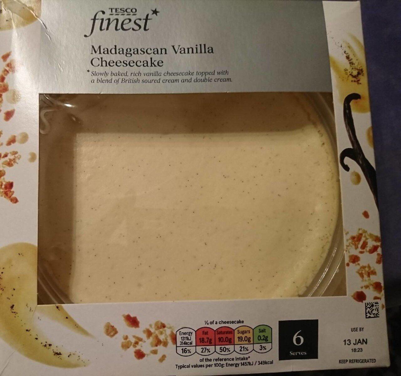 Tesco finest Madagascan vanilla cheesecake - Prodotto - en