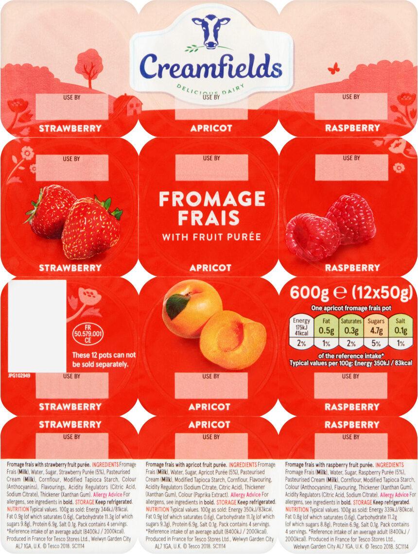 Apricot Strawberry Raspberry Fromage Frais - Produit - en