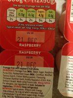 Apricot Strawberry Raspberry Fromage Frais - Informations nutritionnelles - en