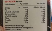 Almond drink - Informação nutricional - en