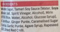 Teriyaki Sauce - Ingrédients - en