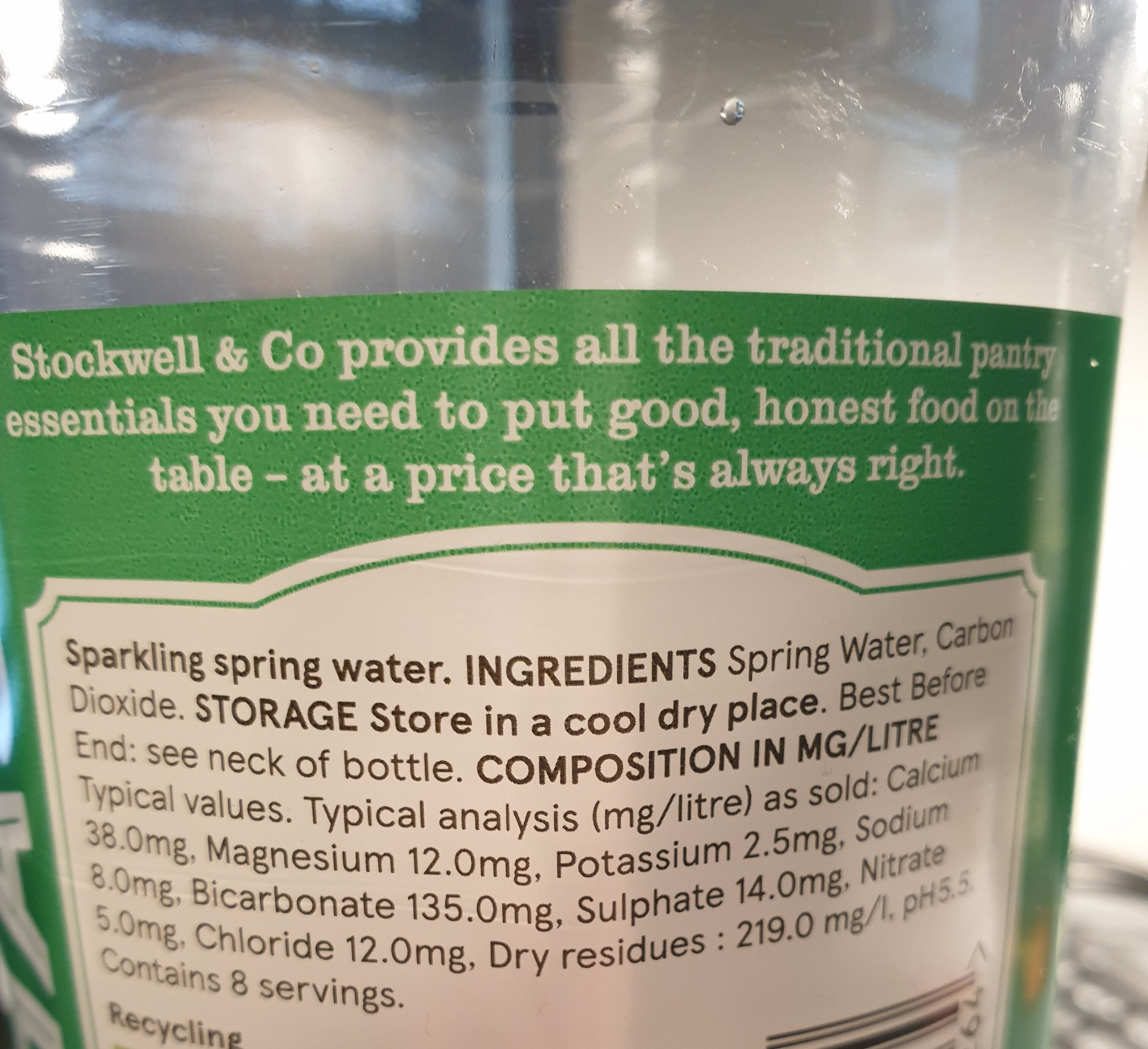 Sparkling water - Ingredienti - en