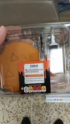 Tesco 5 Gingerbread Pumpkins - Ingredients
