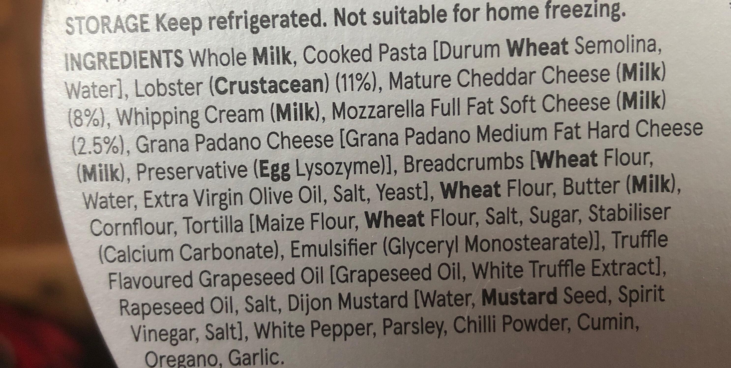 Lobster Mac & Cheese - Ingredients - en