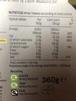 Lobster Mac & Cheese - Nutrition facts - en
