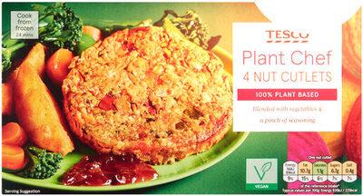 Tesco Plant Chef 4 Nut Cutlets - Produit - en