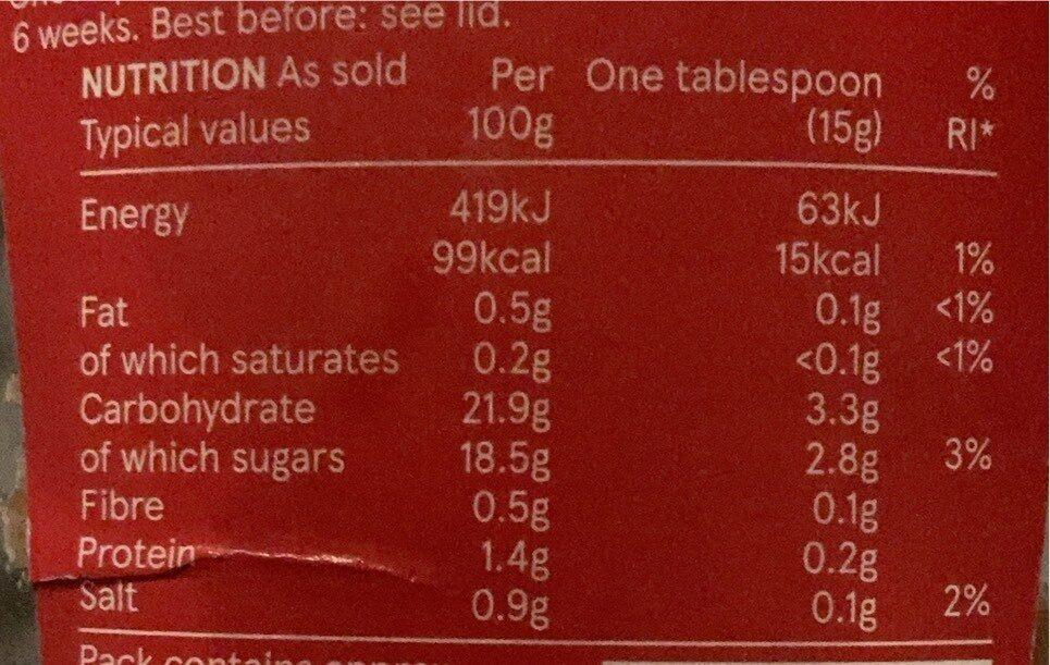 Tesco tomato ketchup - Voedingswaarden - en