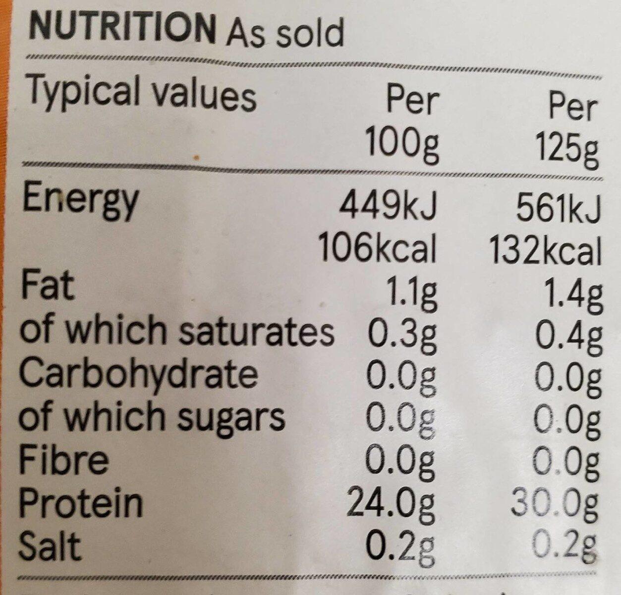Chicken breast mini fillets - Nutrition facts - en