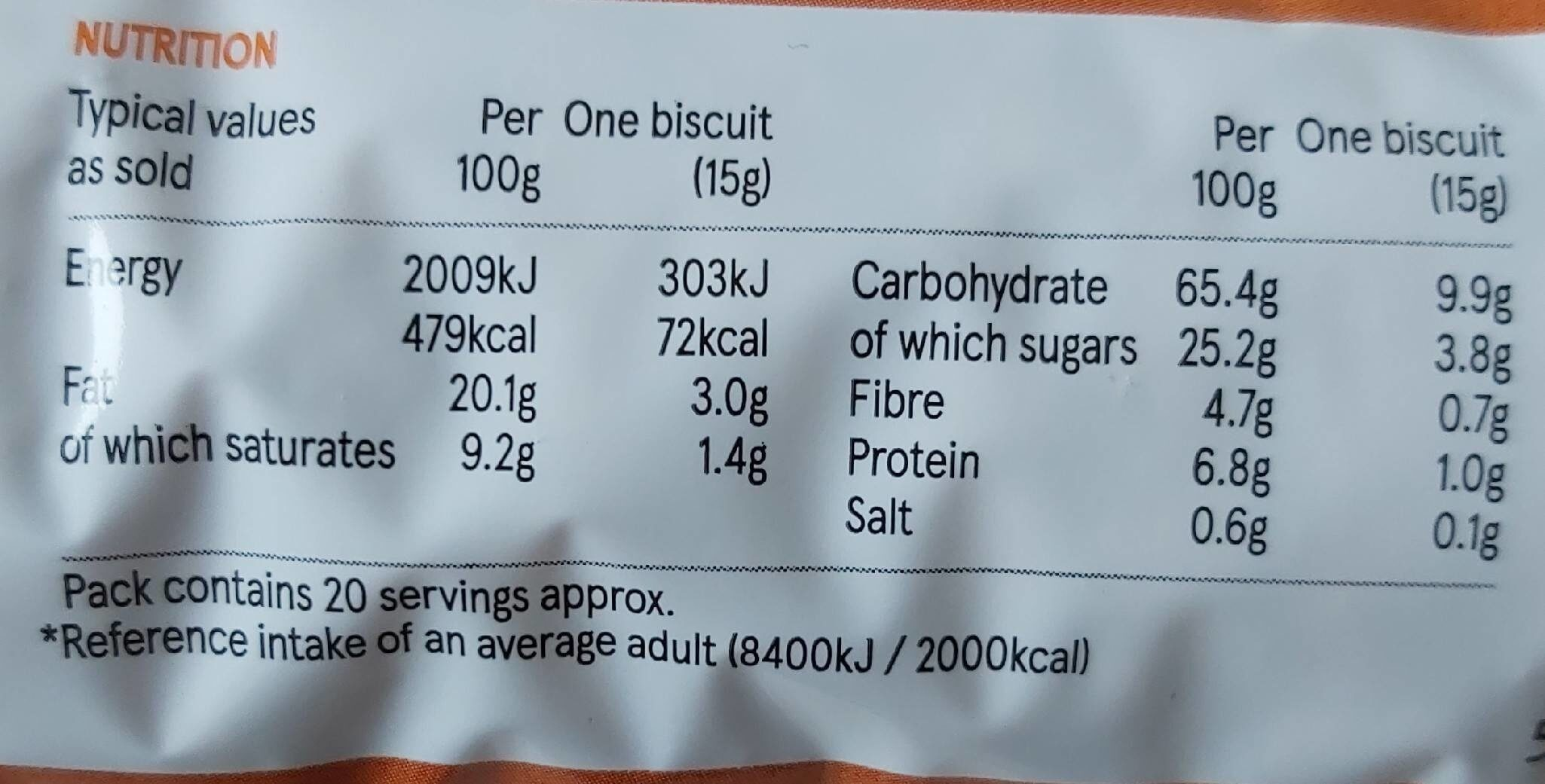Oaties - Nutrition facts - en