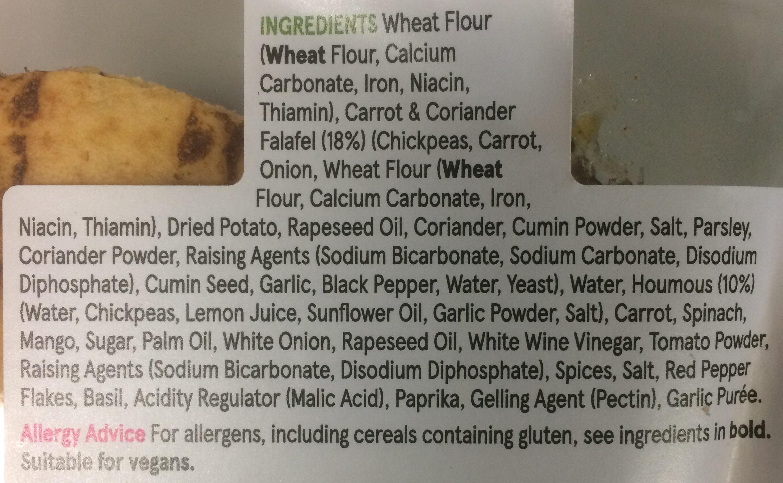 Falafel & Houmous - Ingrédients - en