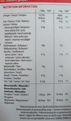 Kellogg by kids - Valori nutrizionali - fr