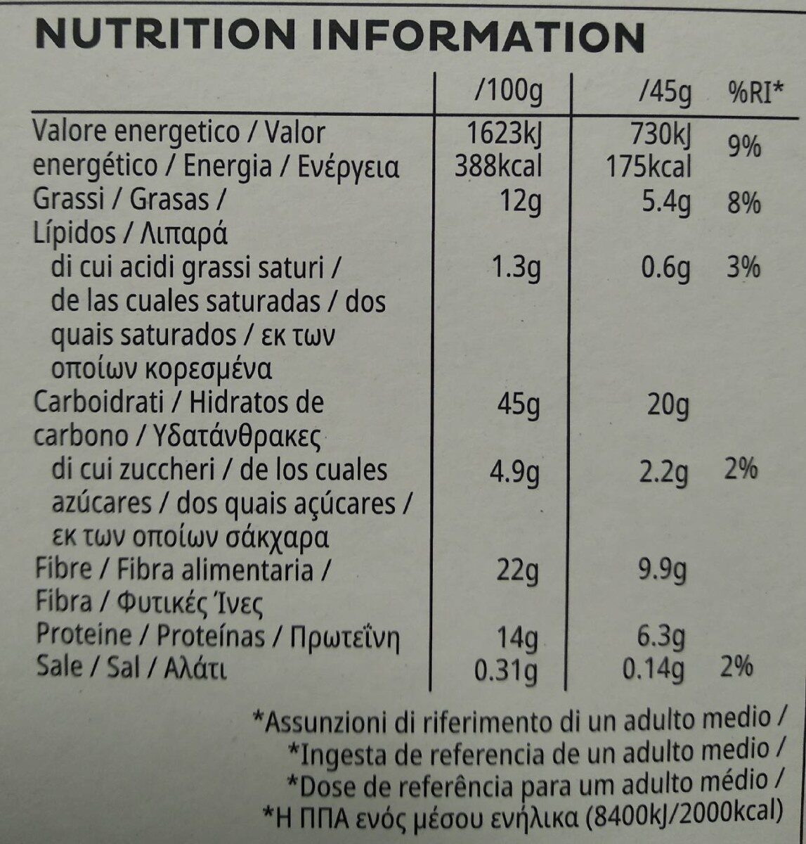 All-Bran Prebiotic Granola - Nutrition facts - es