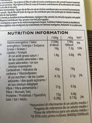 AllBran Pre-Biotic - Informations nutritionnelles - fr