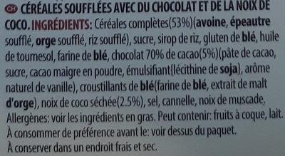 Plant Protein Crunchy Müsli Dark Choco & Coconut - Ingredienti - fr