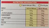 Pop Tarts Strawberry Sensation - Valori nutrizionali - en