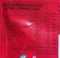 Snax goût Chocolat Noisettes - Voedingswaarden - fr