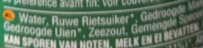 - Ingrédients - nl