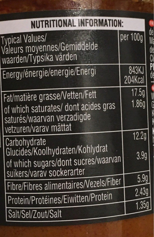 Tikka Masala Curry Paste - Nutrition facts