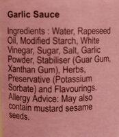 Garlic Sauce - Ingredients - en