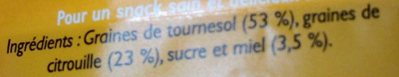 Graines de tournesol et de citrouille grillées au miel - Ingrediënten - fr