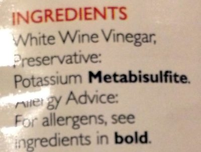 White wine vinegar - Ingredients