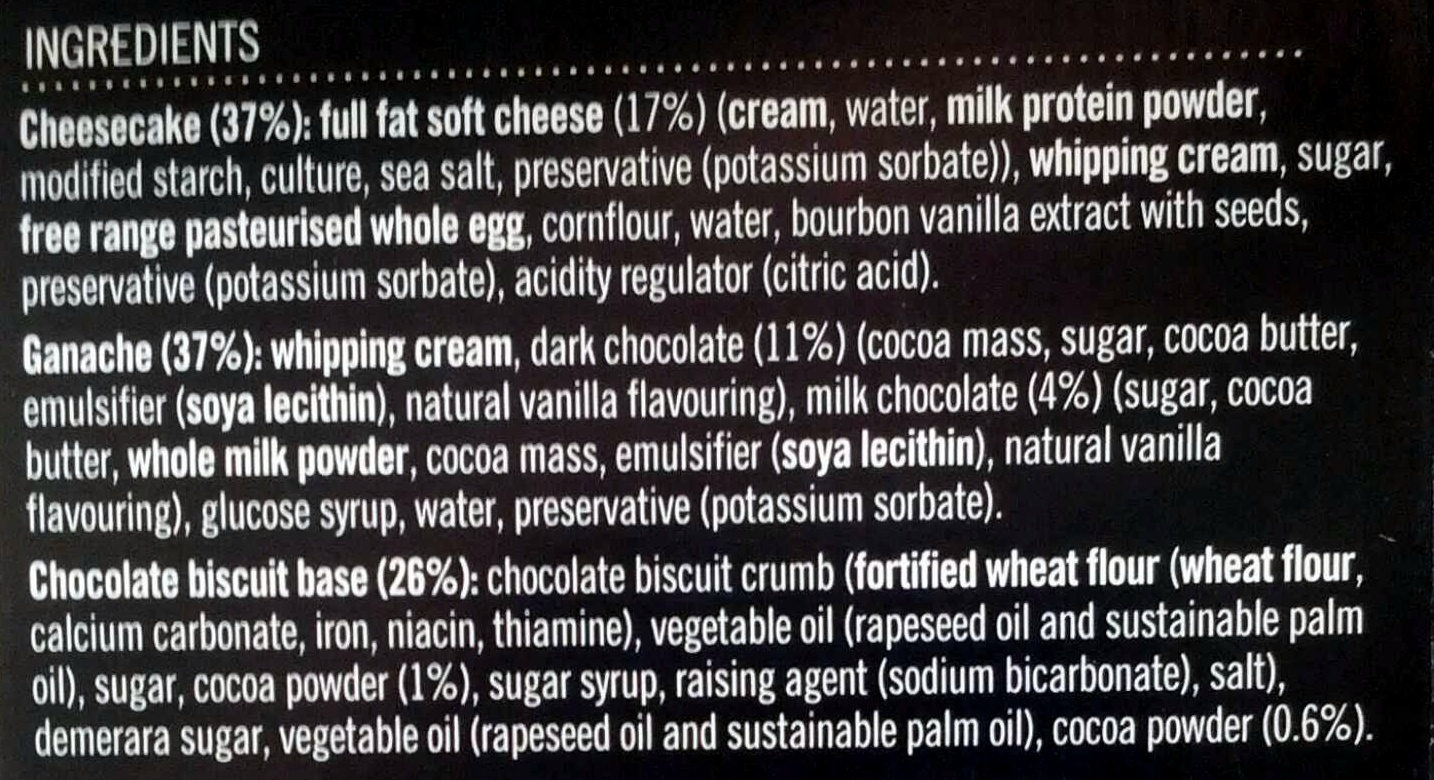 2 cheesecakes au chocolat & vanille de madagascar - Ingrediënten