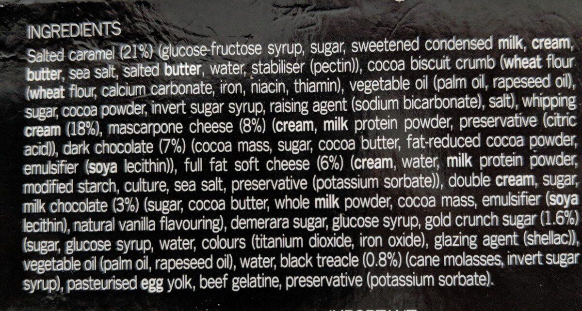 GÜ cheesecakes zillionnaires - Ingredients