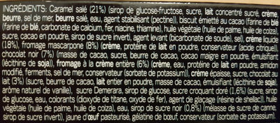 GÜ Desserts - Ingredients - fr
