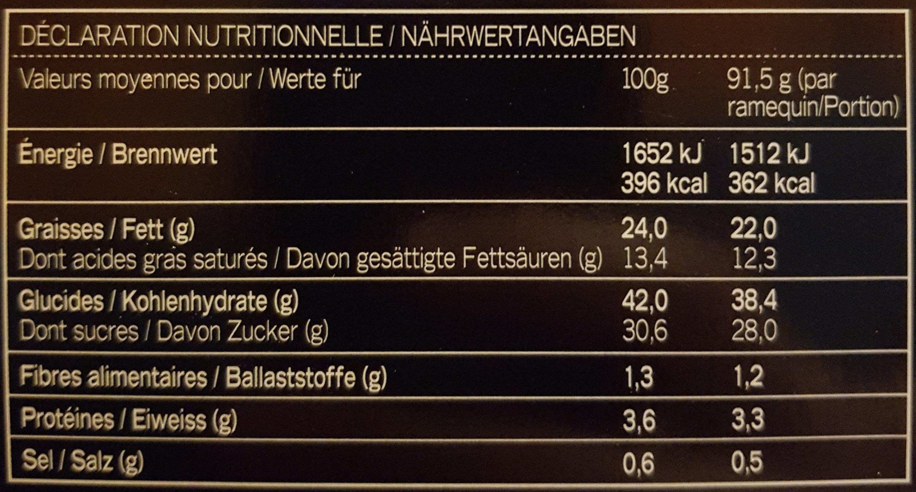 2 Karamell-Schokoladen-Cheesecakes im Glas - Voedingswaarden - de