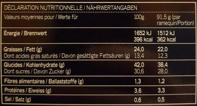 Précieux au Caramel - Informations nutritionnelles