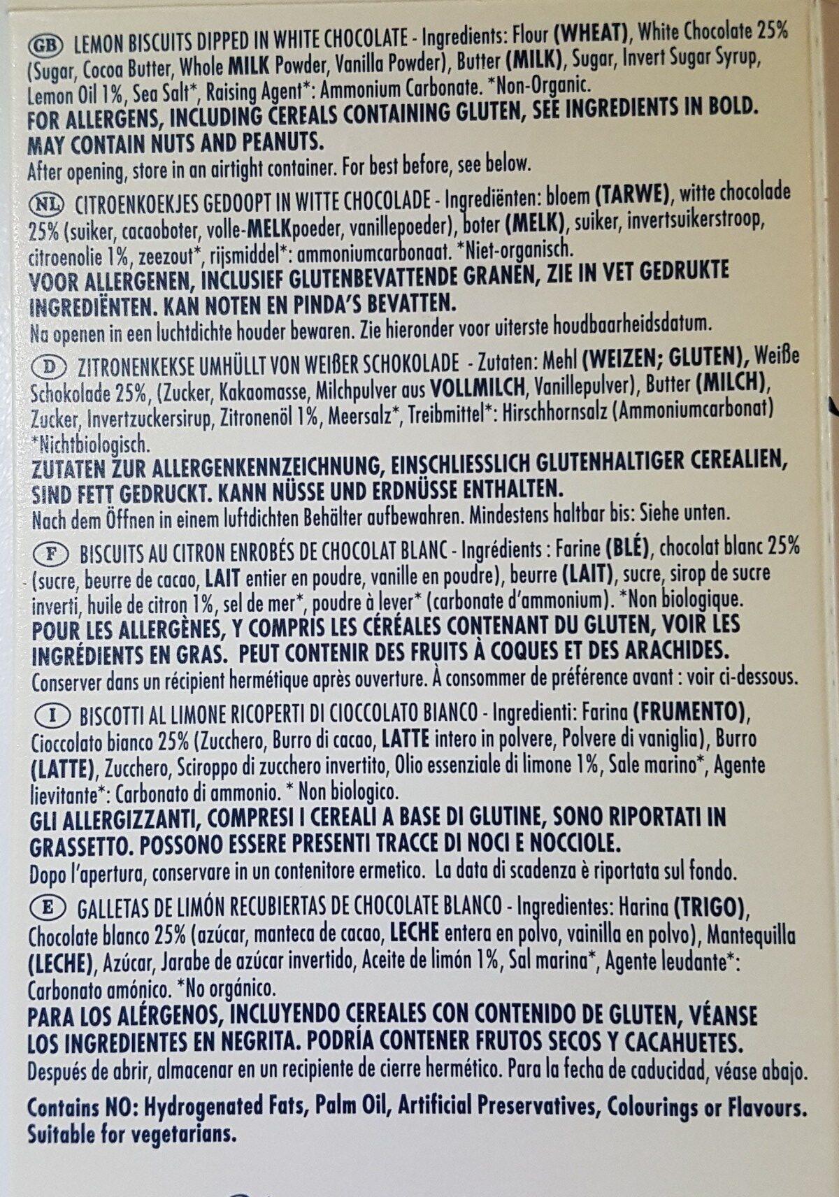 Island Bakery Organics Lemon Melts - Ingredients - fr