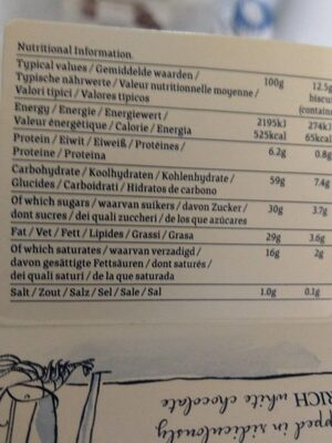 Island Bakery Organics Lemon Melts - Voedingswaarden - fr