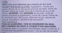 Chocolate chip & hazelnut Cookies - Ingrédients