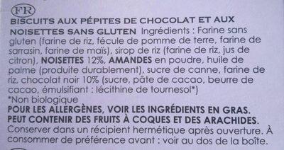 Chocolate chip & hazelnut Cookies - Ingrédients - fr