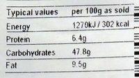 Malaysian brown sugar sponge cake - Voedingswaarden - en
