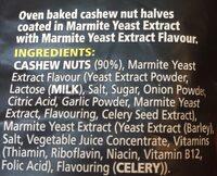 Marmite Cashews 90G - Ingrédients - fr