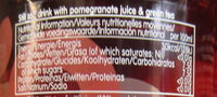 Pomegranate & Green Tea - Informations nutritionnelles - fr