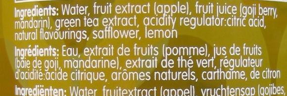 Goji-berry & Green Tea - Ingredients
