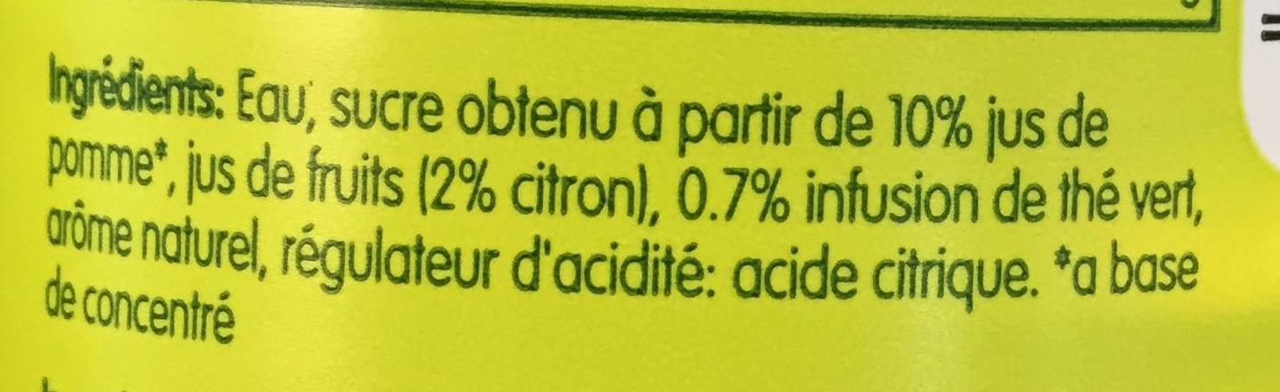 Citron & Thé vert - Ingredients - fr