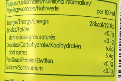 Citron & Thé vert - Nutrition facts - fr