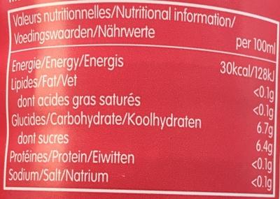 Grenade & Thé Vert - Nutrition facts - fr