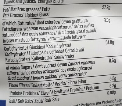 Chips - Valori nutrizionali - fr