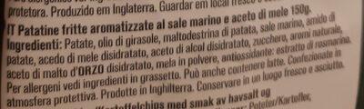 Sea salt & cider vinegar - Ingredienti - it