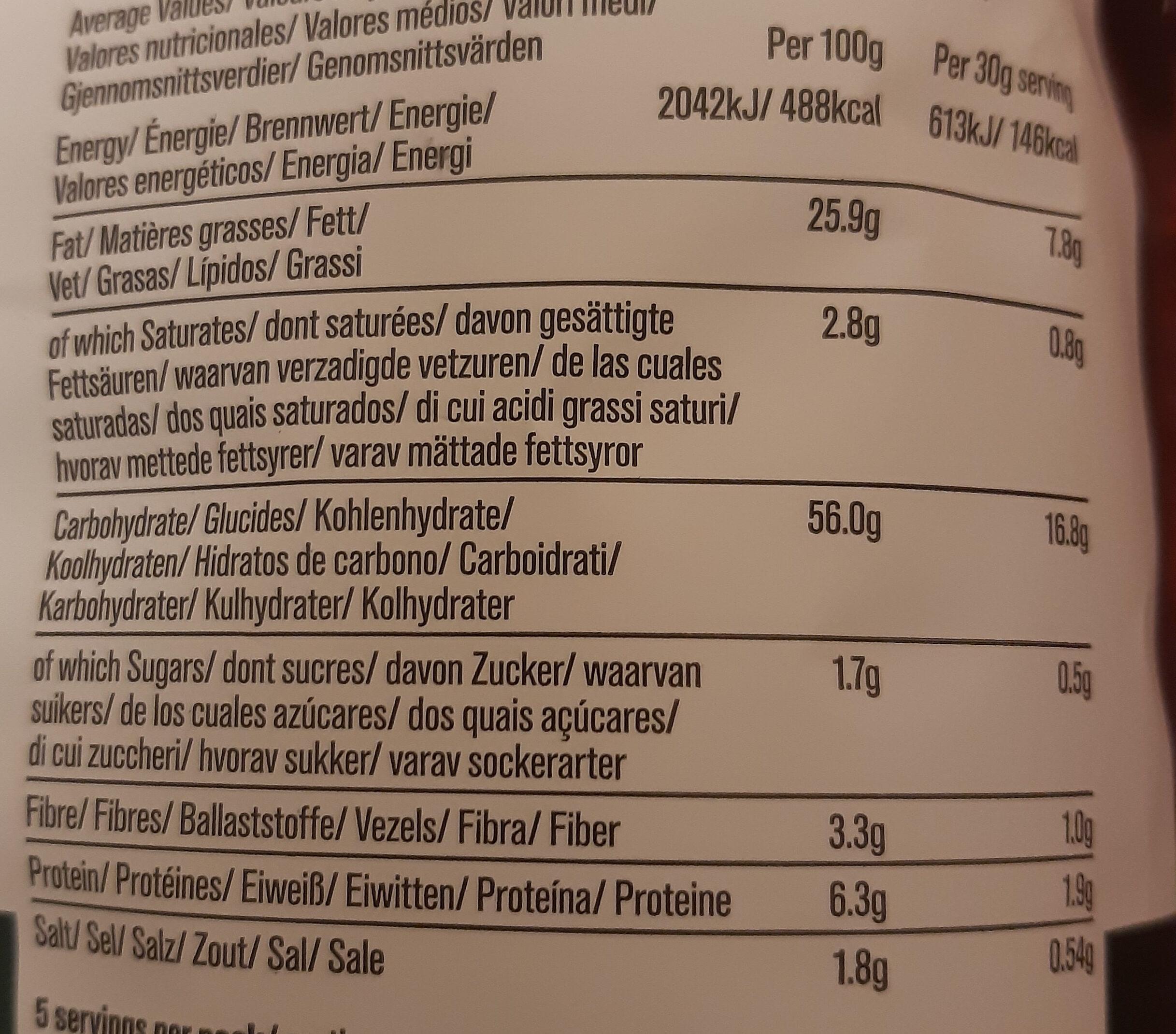 Sea salt & cider vinegar - Nährwertangaben - de