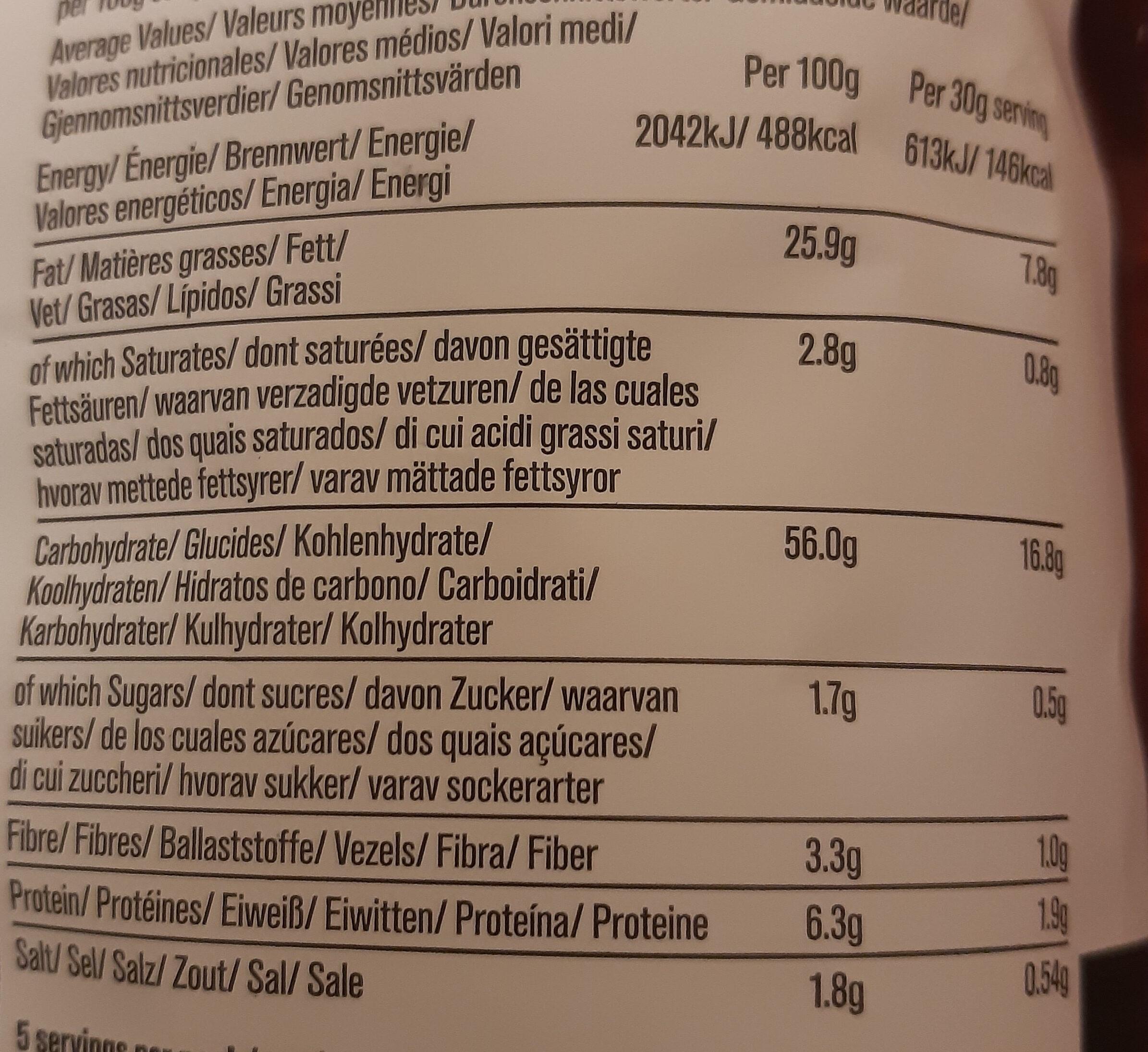 Sea salt & cider vinegar - Valori nutrizionali - it